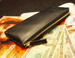 お金を貯める黒財布「風水財布レジさっと」は財布屋の定番中の定番