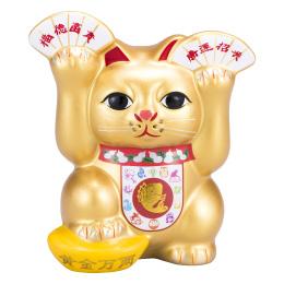 金運全開招き猫は両手で大金運を招き入れるめでたさ全開招き猫