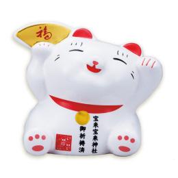 【ゆる~い笑顔】金運神社ご祈祷済み招き猫でバッチリ金運を呼び込む